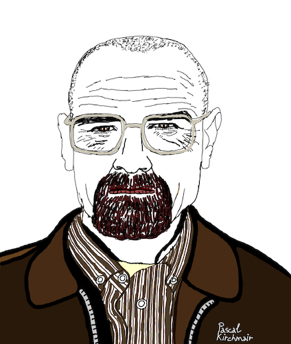 Cartoon: Breaking Bad (medium) by Pascal Kirchmair tagged bryan,cranston,breaking,bad,walter,white,heisenberg,cartoon,caricature,karikatur,ilustracion,illustration,portrait,retrato,pascal,kirchmair,dibujo,desenho,drawing,zeichnung,ritratto,disegno,ilustracao,illustrazione,illustratie,dessin,du,jour,art,of,the,day,tekening,teckning,cartum,vineta,comica,vignetta,caricatura,bryan,cranston,breaking,bad,walter,white,heisenberg,cartoon,caricature,karikatur,ilustracion,illustration,portrait,retrato,pascal,kirchmair,dibujo,desenho,drawing,zeichnung,ritratto,disegno,ilustracao,illustrazione,illustratie,dessin,du,jour,art,of,the,day,tekening,teckning,cartum,vineta,comica,vignetta,caricatura