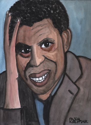 Cartoon: Dany Laferriere (medium) by Pascal Kirchmair tagged dany,laferriere,portrait,karikatur,caricature,dessin,academie,francaise,haiti,france,frankreich,dany,laferriere,portrait,karikatur,caricature,dessin,academie,francaise,haiti,france,frankreich