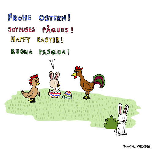 Cartoon: Der Osterhase (medium) by Pascal Kirchmair tagged osterhase,joyeuses,paques,frohe,ostern,kaninchen,happy,easter,buona,pasqua,bunny,lapin