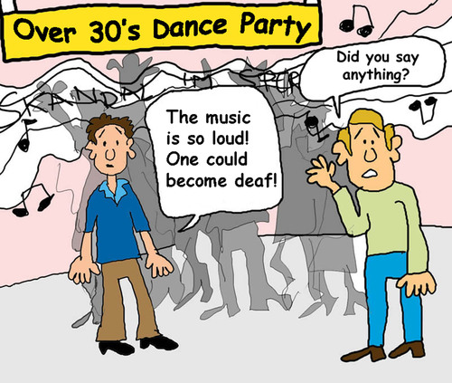 Cartoon: Die Party ab 30 (medium) by Pascal Kirchmair tagged party,ab,30,over,old
