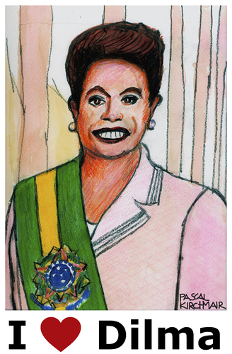 Cartoon: Dilma Rousseff (medium) by Pascal Kirchmair tagged dilma,rousseff,karikatur,portrait,caricature,brazil,brasil,brasilien,präsidentin,cartoon,vignetta,justice,amtsenthebung,impeachment,dilma,rousseff,karikatur,portrait,caricature,brazil,brasil,brasilien,präsidentin,cartoon,vignetta,justice,amtsenthebung,impeachment