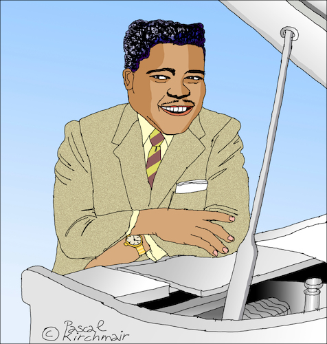 Cartoon: Fats Domino (medium) by Pascal Kirchmair tagged fats,domino,caricature,cartoon,karikatur,drawing,dibujo,portrait,retrato,new,orleans,louisiana,desenho,dessin,zeichnung,ritratto,tekening,portret,porträt,cartum,ilustracao,ilustracion,illustration,illustrazione,pascal,kirchmairrock,roll,rhythm,and,blues,piano,boogie,woogie,disegno,fats,domino,caricature,cartoon,karikatur,drawing,dibujo,portrait,retrato,new,orleans,louisiana,desenho,dessin,zeichnung,ritratto,tekening,portret,porträt,cartum,ilustracao,ilustracion,illustration,illustrazione,pascal,kirchmairrock,roll,rhythm,and,blues,piano,boogie,woogie,disegno