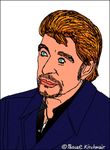 Johnny Hallyday By Pascal Kirchmair Famous People Cartoon Toonpool