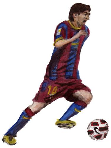 Cartoon football player messi
