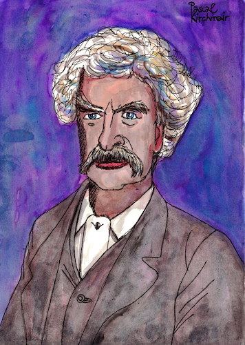 Cartoon: Mark Twain (medium) by Pascal Kirchmair tagged mark,twain,portrait,retrato,pascal,kirchmair,caricature,caricatura,illustration,dibujo,drawing,ritratto,cartoon,karikatur,author,schriftsteller,ilustracion,ilustracao,illustratie,tekening,illustrazione,zeichnung,desenho,cartum,disegno,dessin,usa,mark,twain,portrait,retrato,pascal,kirchmair,caricature,caricatura,illustration,dibujo,drawing,ritratto,cartoon,karikatur,author,schriftsteller,ilustracion,ilustracao,illustratie,tekening,illustrazione,zeichnung,desenho,cartum,disegno,dessin,usa