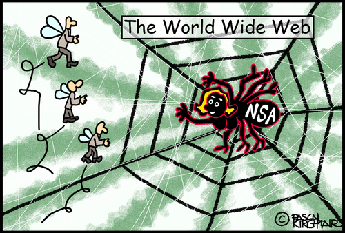 Cartoon: National Security Agency (medium) by Pascal Kirchmair tagged national,usa,nsa,karikatur,cartoon,agency,security,espionnage,spionage,spy,web,wide,world,caricature,toile,spiderweb,cobweg,vorsicht,falle,verlockend,verlockung,locken,fangen,mouches,fliegen,spinnennetz,spider,araignee,spinne