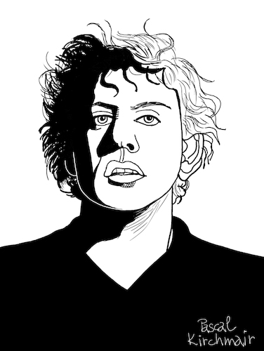Cartoon: Philip Glass (medium) by Pascal Kirchmair tagged philip,glass,illustration,drawing,zeichnung,pascal,kirchmair,cartoon,caricature,karikatur,ilustracion,dibujo,desenho,ink,disegno,ilustracao,illustrazione,illustratie,dessin,de,presse,du,jour,art,of,the,day,tekening,teckning,cartum,vineta,comica,vignetta,caricatura,portrait,retrato,ritratto,portret,kunst,minimal,music,baltimore,maryland,composer,musician,musik,musiker,komponist,usa,porträt,philip,glass,illustration,drawing,zeichnung,pascal,kirchmair,cartoon,caricature,karikatur,ilustracion,dibujo,desenho,ink,disegno,ilustracao,illustrazione,illustratie,dessin,de,presse,du,jour,art,of,the,day,tekening,teckning,cartum,vineta,comica,vignetta,caricatura,portrait,retrato,ritratto,portret,kunst,minimal,music,baltimore,maryland,composer,musician,musik,musiker,komponist,usa,porträt
