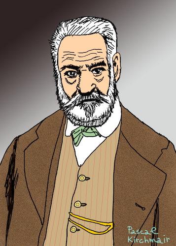 Cartoon: Victor Hugo (medium) by Pascal Kirchmair tagged victor,hugo,portrait,schriftsteller,retrato,dibujo,desenho,caricature,karikatur,ritratto,dessin,disegno,drawing,zeichnung,poet,writer,author,auteur,ecrivain,scrittore,autore,escritor,cartoon,cartum,portret,victor,hugo,portrait,retrato,dibujo,desenho,caricature,karikatur,ritratto,dessin,diegno,drawing,zeichnung,poet,writer,author,auteur,ecrivain,scrittore,autore,escritor,cartoon,cartum,portret