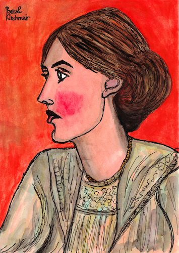 Cartoon: Virginia Woolf (medium) by Pascal Kirchmair tagged pascal,kirchmair,who,is,afraid,wer,hat,angst,vor,virginia,woolf,portrait,retrato,ritratto,drawing,dibujo,desenho,disegno,illustration,ilustracion,ilustracao,illustrazione,illustratie,zeichnung,dessin,du,jour,art,of,the,day,tekening,teckning,cartum,cartoon,vineta,comica,vignetta,caricature,caricatura,karikatur,pascal,kirchmair,who,is,afraid,wer,hat,angst,vor,virginia,woolf,portrait,retrato,ritratto,drawing,dibujo,desenho,disegno,illustration,ilustracion,ilustracao,illustrazione,illustratie,zeichnung,dessin,du,jour,art,of,the,day,tekening,teckning,cartum,cartoon,vineta,comica,vignetta,caricature,caricatura,karikatur