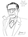 Cartoon: Arthur Miller (small) by Pascal Kirchmair tagged arthur miller new york city illustration drawing zeichnung pascal kirchmair cartoon caricature karikatur ilustracion dibujo desenho ink disegno ilustracao illustrazione illustratie dessin de presse du jour art of the day tekening teckning cartum vineta comica vignetta caricatura portrait retrato ritratto portret kunst usa connecticut roxbury schriftsteller author writer playwright autor autore auteur dramatiker misfits tod eines handlungsreisenden death salesman brooklyn marilyn monroe