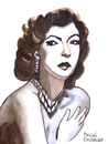 Cartoon: Ava Gardner (small) by Pascal Kirchmair tagged ava gardner caricature karikatur portrait cartoon dessin vignetta hollywood star diva grande dame fifties golden age