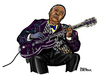 Cartoon: B. B. King (small) by Pascal Kirchmair tagged king,beale,street,blues,boy,guitarist,caricature,cartoon,karikatur,portrait