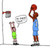 Cartoon: Basketball (small) by Pascal Kirchmair tagged aussichtslos player spieler keine no chance basket basketball ball sport sports korb wurf zwerg riese