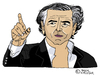 Cartoon: Bernard-Henri Levy (small) by Pascal Kirchmair tagged karikatur cartoon france frankreich bernard henri levy bhl caricature dessin philosophe