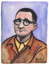 Cartoon: Bert Brecht (small) by Pascal Kirchmair tagged bertolt,bert,brecht,portrait,retrato,ritratto,dramatiker,lyriker,zeichnung,drawing,mutter,courage,dreigroschenoper,dessin,illustration,caricature,karikatur,cartoon,vignetta,dibujo,desenho,disegno,aquarell,watercolour