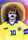 Cartoon: Carlos Valderrama (small) by Pascal Kirchmair tagged colombie colombia aquarell karikatur football soccer foot calcio carlos alberto valderrama palacio fußball kolumbien