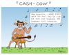 Cartoon: Cash cow (small) by Pascal Kirchmair tagged johnny cash cow humor humour drawing illustration zeichnung ilustracion ilustracao dibujo desenho dessin disegno ritratto pascal kirchmair caricature karikatur cartoon tekening portret cartum teckning caricatura karikatür illustrazione illustratie impersonator double interpret kuh imitator
