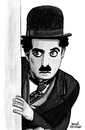 Cartoon: Charlie Chaplin II (small) by Pascal Kirchmair tagged charlie,chaplin,portrait,charlot,zeichnung,dessin,drawing,the,tramp,caricature,karikatur,cartoon