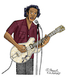 Cartoon: Chuck Berry (small) by Pascal Kirchmair tagged chuck berry cartoon dibujo desenho disegno caricature karikatur drawing dessin rock and roll johnny goode cartum blues hall of fame usa zeichnung vineta comica vignetta saint louis missouri wentzville duckwalk beat music musik