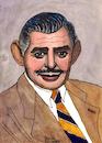 Cartoon: Clark Gable (small) by Pascal Kirchmair tagged clark gable portrait retrato pascal kirchmair desenho dibujo drawing caricature karikatur ritratto zeichnung dessin disegno illustration ilustracion illustrazione ilustracao illustratie tekening teckning ritning cartoon cartum portret usa hollywood ohio la los angeles celebrity actor star
