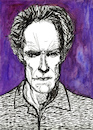 Cartoon: Clint Eastwood (small) by Pascal Kirchmair tagged clint eastwood caricature karikatur portrait retrato drawing zeichnung dibujo desenho porträt ritratto disegno dessin illustration usa california kalifornien carmel by the sea