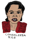 Cartoon: Condoleezza Rice (small) by Pascal Kirchmair tagged republikanische,partei,condoleezza,rice,falken,außenministerin,usa,republikaner,george,walker,bush,secretary,of,state,national,security,advisor,nationale,sicherheitsberaterin