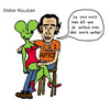 Cartoon: Didier Roustan (small) by Pascal Kirchmair tagged didier,uncle,roustan,from,france,foot,citoyen,blog,souris,verte,kicktv,journaliste,sportif,sport,football,lequipe