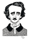 Cartoon: Edgar Allan Poe (small) by Pascal Kirchmair tagged edgar,allan,poe,dublin,poet,poetry,dichter,literatur,literature,schriftsteller,author,autor,autore,auteur,writer,illustration,ink,drawing,tusche,tuschezeichnung,zeichnung,pascal,kirchmair,cartoon,caricature,karikatur,ilustracion,dibujo,desenho,disegno,ilustracao,illustrazione,illustratie,dessin,de,presse,du,jour,art,of,the,day,tekening,teckning,cartum,vineta,comica,vignetta,caricatura,portrait,porträt,portret,retrato,ritratto,usa,boston,massachusetts,baltimore,maryland