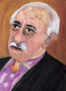 Cartoon: Fethullah Gülen (small) by Pascal Kirchmair tagged türkei,oberhaupt,religion,islam,fethullah,gülen,bewegung,cartoon,dessin,humoristique,karikatur,caricature,aquarell,gouache,watercolour