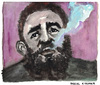 Cartoon: Fidel Castro Ruz (small) by Pascal Kirchmair tagged fidel alejandro castro ruz caricature portrait karikatur zeichnung dessin drawing illustration cartoon vignetta cuba libre kuba el jefe havanna la habana smoking rauchend fumant fumando cohiba
