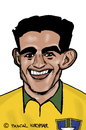 Cartoon: Garrincha (small) by Pascal Kirchmair tagged soccer brasilien brazil bresil brasile caricature fußball foot football garrincha futebol brasil caricatura cartoon karikatur player spieler best ever
