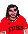 Cartoon: George Best (small) by Pascal Kirchmair tagged george best manu manchester la aztecs fußball socer spieler trinker lebemann footballer footballeur