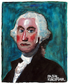 Cartoon: George Washington (small) by Pascal Kirchmair tagged george washington caricature portrait karikatur retrato dibujo desenho drawing dessin zeichnung illustration pascal kirchmair usa president portret cartum cartoon ilustracao ilustracion ritratto disegno