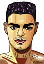Cartoon: Hatem Ben Arfa (small) by Pascal Kirchmair tagged hatem,ben,arfa,caricature,portrait,karikatur,cartoon,dessin,fußball,foot,football,soccer,player,france