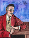 Cartoon: James Joyce (small) by Pascal Kirchmair tagged dublin,irland,ireland,irlanda,irlande,ulysses,dubliners,finnegans,wake,james,joyce,literatur,literature,schriftsteller,author,autor,autore,auteur,writer,illustration,drawing,zeichnung,pascal,kirchmair,cartoon,caricature,karikatur,ilustracion,dibujo,desenho,ink,disegno,ilustracao,illustrazione,illustratie,dessin,de,presse,du,jour,art,of,the,day,tekening,teckning,cartum,vineta,comica,vignetta,caricatura,portrait,porträt,portret,retrato,ritratto