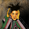 Cartoon: Jean-Michel Basquiat (small) by Pascal Kirchmair tagged jean michel basquiat portrait retrato ritratto karikatur caricature cartoon illustration dibujo desenho disegno dessin drawing zeichnung