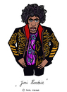 Cartoon: Jimi Hendrix (small) by Pascal Kirchmair tagged jimi hendrix karikatur hey joe caricature cartoon dessin humoristique humour humor rock pop guitar songwriter guitarist gitarrist gratteur