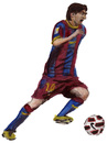 Cartoon: Lionel Messi (small) by Pascal Kirchmair tagged lionel messi barcelona fc football footballer fußballer soccer player joueur de foot