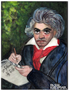 Cartoon: Ludwig van Beethoven (small) by Pascal Kirchmair tagged pascal kirchmair ludwig van beethoven cartoon caricature karikatur watercolor aquarell vignetta cuadro quadro bild imagen image acquarello acquerello aquarela acuarela