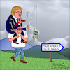 Cartoon: Make America hate again! (small) by Pascal Kirchmair tagged donald trump big money cartoon make america great hate again karikatur caricature pascal kirchmair vignetta dibujo desenho dessin humour humor usa president united states