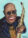 Cartoon: Manu Dibango (small) by Pascal Kirchmair tagged manu,dibango,caricature,afrika,africa,afrique,yabassi,duala,image,bild,karikatur,cartoon,pascal,kirchmair,illustration,saxophonist,vibraphonist,pianist,kamerun,cameroun,musicien,musiker,douala,jazz,musician,chanteur,sänger,singer,funk,world,music,traditio
