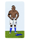 Cartoon: Mario Balotelli (small) by Pascal Kirchmair tagged futebol,futbol,soccer,foot,football,super,mario,balotelli,italia,italien,squadra,azzurra,calcio,fußball,weltmeisterschaft,cartoon,caricature,karikatur