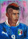 Cartoon: Mario Balotelli (small) by Pascal Kirchmair tagged mario balotelli barwuah cartoon zeichnung desenho caricature illustration ilustracion pascal kirchmair portrait retrato ritratto drawing dibujo disegno ilustracao illustrazione illustratie dessin du jour art of the day tekening teckning cartum vineta comica vignetta caricatura karikatur ink immagine image bild imagen imagem arte dipinto watercolour watercolor aquarelle portret