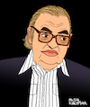 Cartoon: Mario Puzo (small) by Pascal Kirchmair tagged italo american oscar usa amerikaner long island bay shore der pate hollywood author writer screenwriter autor autore mario puzo godfather mobster mafia boss crime family syndicate mastermind lord illustration drawing zeichnung pascal kirchmair cartoon caricature karikatur ilustracion dibujo desenho ink disegno ilustracao illustrazione illustratie dessin de presse du jour art of the day tekening teckning cartum vineta comica vignetta caricatura portrait retrato ritratto portret gangster new york city