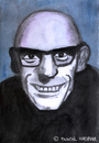 Cartoon: Michel Foucault (small) by Pascal Kirchmair tagged cartoon michel foucault portrait caricature karikatur dessin peinture philosoph france frankreich poststrukturalismus diskursanalyse