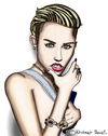 Cartoon: Miley Cyrus (small) by Pascal Kirchmair tagged miley cyrus caricature karikatur portrait cartoon usa