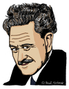 Cartoon: Nazim Hikmet (small) by Pascal Kirchmair tagged nazim hikmet caricature portrait cartoon karikatur