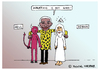 Cartoon: Nelson Mandela (small) by Pascal Kirchmair tagged caricature,vignetta,nelson,mandela,cartoon,heaven,karikatur,reconciliation,apartheid,regime,south,africa,südafrika,friedensnobelpreis