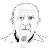 Cartoon: Pablo Picasso (small) by Pascal Kirchmair tagged pablo,picasso,cartoon,caricature,karikatur,drawing,zeichnung,illustration,illustrazione,pascal,kirchmair,ilustracion,portrait,retrato,dibujo,desenho,ritratto,disegno,ilustracao,illustratie,dessin,du,jour,art,of,the,day,tekening,teckning,cartum,vineta,comica,vignetta,caricatura,artist,artista,artiste,kunst,künstler,maler,painter,peintre,pintor,pittore,wacom,cintiq,21,ux,digital
