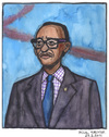 Cartoon: Paul Kagame (small) by Pascal Kirchmair tagged paul,kagame,portrait,caricature,karikatur,president,ruanda